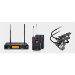 Set doua Microfoane Lavaliera Wireless JTS RU-8012DB/5/RU-850LTB/5/CM-501